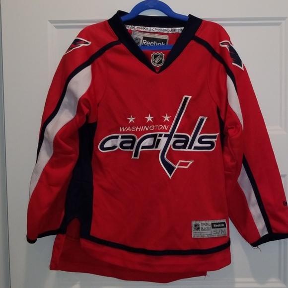 low priced a0cc1 e697f Reebok Kids Capitals jersey
